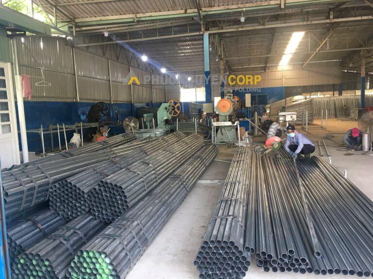 xưởng sản xuất giàn giáo